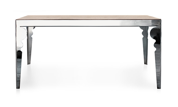 GB311 - Table in steel and oak top