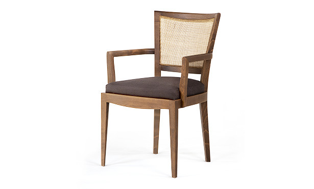 L310 - Armchair with Wiener Straw back