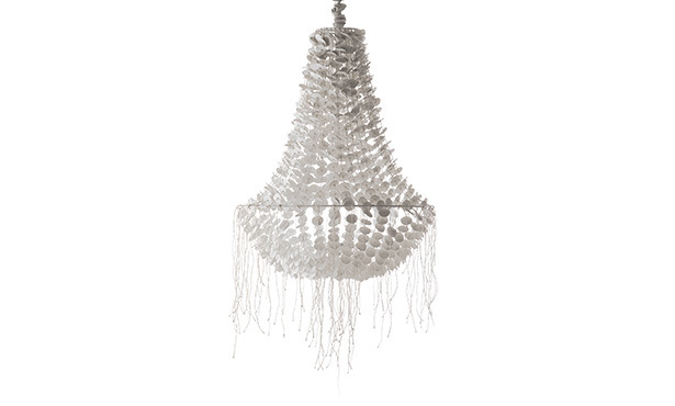 GB971 - Chandelier in porcelain with 1 light