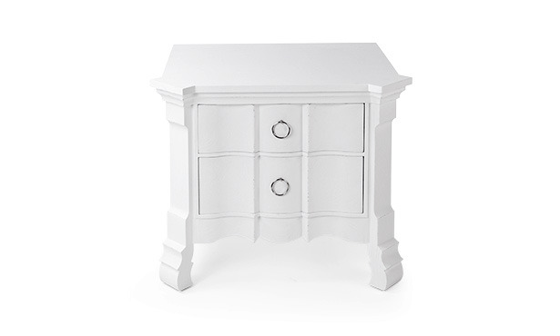 FA702 - Bedside table with shaped front