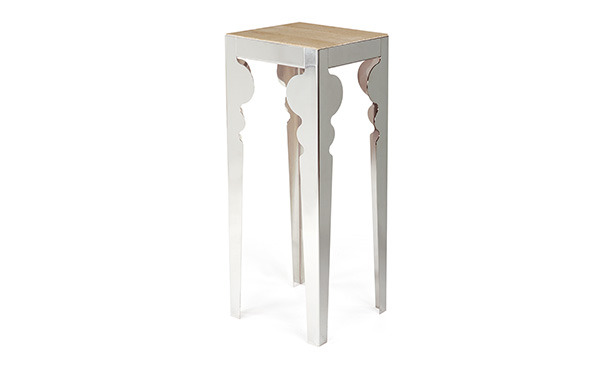 GB401 - Small table in polished steel