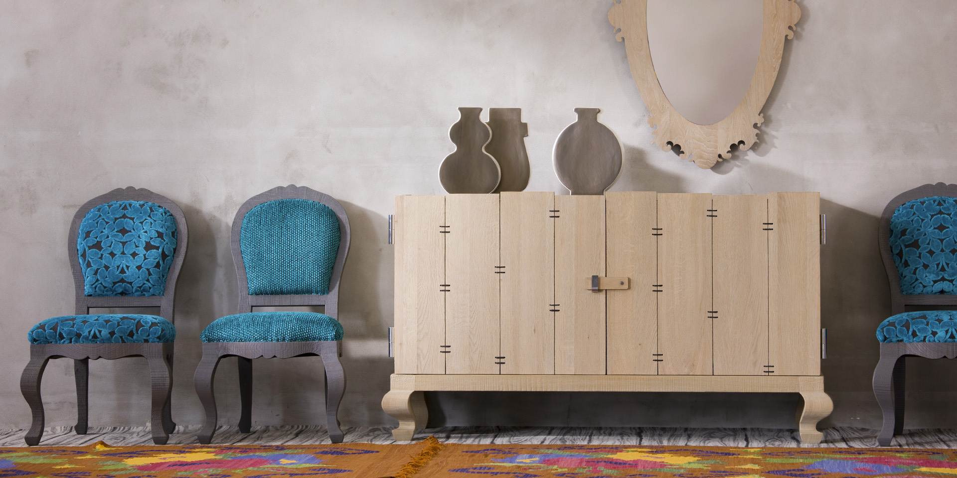 GB015 - Credenza in rovere massello